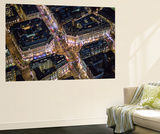 Night Aerial View of Oxford Circus, London, England Wall Mural by Jon Arnold