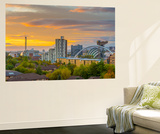 UK, Scotland, Glasgow, Scottish Exhibition and Conference Centre Secc Wall Mural by Alan Copson