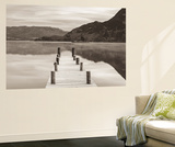 Frosty Jetty on Ullswater at Dawn, Lake District, Cumbria, England. Winter (November) Wall Mural by Adam Burton