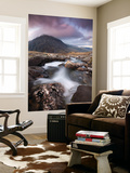 Rocky River in Cwm Idwal Leading to Pen Yr Ole Wen Mountain at Sunset Wall Mural by Adam Burton