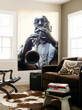 Louisiana, New Orleans, French Quarter, Bourbon Street, Musical Legends Park, Pete Fountain Statue Wall Mural by John Coletti
