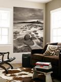 Dunstanburgh Castle at Dawn from Embleton Bay, Northumberland, England. Spring (April) Wall Mural by Adam Burton