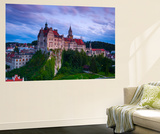 Elevated View Towards Sigmaringen Castle Illuminated at Dusk Wall Mural by Doug Pearson