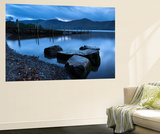 Twilight on the Shores of Derwent Water Near Ashness Jetty, Lake District, Cumbria Wall Mural by Adam Burton