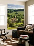 Church of St Mary the Virgin Surrounded by Beautiful Countryside, Lasborough in the Cotswolds Wall Mural by Adam Burton