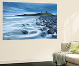 Dunstanburgh Castle Overlooking the Boulder Strewn Shores of Embleton Bay, Northumberland, England Wall Mural by Adam Burton