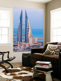 Bahrain, Manama, View of Bahrain World Trade Center Wall Mural by Jane Sweeney