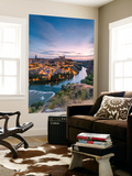 Spain, Castile–La Mancha, Toledo. City and River Tagus at Sunrise, High Angle View Wall Mural by Matteo Colombo