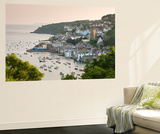 The Cornish Town of Fowey on the Fowey Estuary, Cornwall, England. Summer Wall Mural by Adam Burton