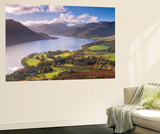 Ullswater from Gowbarrow Fell, Lake District National Park, Cumbria, England. Autumn Wall Mural by Adam Burton