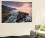Sun Setting over the North Devon Coast, England. Spring (April) Wall Mural by Adam Burton