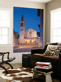 Duomo (Cathedral) in Piazza Del Duomo at Dusk, Spoleto, Umbria, Italy Wall Mural by Ian Trower