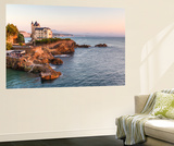 France, Aquitaine, Pyrenees Atlantiques, Biarritz. Old Mansion on the Cliffs Wall Mural by Matteo Colombo
