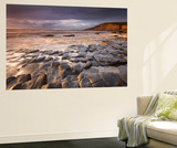 Dunraven Bay on the Glamorgan Heritage Coast, South Wales. Winter Wall Mural by Adam Burton