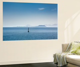 Sailing Boat and Fuerteventura, from Playa Blanca, Lanzarote, Canary Islands, Spain Mural por Sabine Lubenow