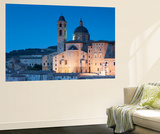 View of Duomo (Cathedral) at Dusk, Urbino (Unesco World Heritage Site), Le Marche, Italy Wall Mural by Ian Trower