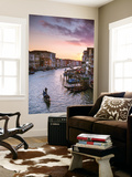 Italy, Veneto, Venice. Grand Canal at Sunset from Rialto Bridge Wall Mural by Matteo Colombo