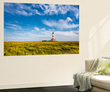 Westerhever Lighthouse, Eiderstedt Peninsula, Northern Frisia, Schleswig-Holstein, Germany Wall Mural by Sabine Lubenow