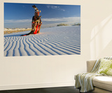 Native American in Full Regalia, White Sands National Monument, New Mexico, USA Mr Wall Mural by Alex Heeb