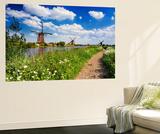 Netherlands, South Holland, Kinderdijk. Windmills Wall Mural by Francesco Iacobelli