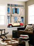 France, Provence Alps Cote D'Azur, Saint Remy De Provence. Street View with Old Fashioned 2Cv Car Wall Mural by Matteo Colombo