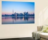 Canada, Ontario, Toronto, View of Cn Tower and City Skyline Wall Mural by Jane Sweeney