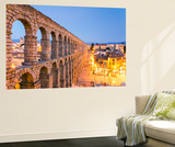Spain, Castile and Leon, Segovia. the Roman Aqueduct Wall Mural by Matteo Colombo