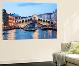 Italy, Venice. Grand Canal and Rialto Bridge Wall Mural by Matteo Colombo