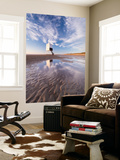 Wooden Lighthouse on Burnham Beach at Low Tide, Burnham-On-Sea, Somerset, England. Winter Wall Mural by Adam Burton