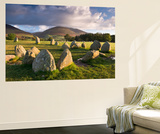 Castlerigg Stone Circle with Blencathra Mountain Behind, Lake District, Cumbria Wall Mural by Adam Burton