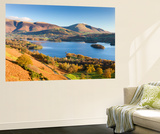 Derwent Water Skiddaw and Blencathra, Lake District National Park, Cumbria Wall Mural by Adam Burton