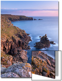 Looking Towards Land's End from the Cliffs Above Sennen, Cornwall, England. Spring Prints by Adam Burton