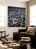 Night Aerial View of St. Paul's and City of London, London, England Wall Mural by Jon Arnold
