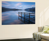 Tranquil Derwent Water at Dusk, Lake District, Cumbria, England. Autumn (October) Wall Mural by Adam Burton