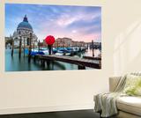 Matteo Colombo - Italy, Veneto, Venice. Santa Maria Della Salute Church on the Grand Canal, at Sunset Nástěnný výjev