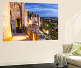 France, Languedoc-Roussillon, Aude, Carcassonne. Walls and Towers of the Old Town at Dusk Wall Mural by Matteo Colombo