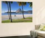Flamengo Beach and Sugarloaf Mountain, Rio De Janeiro, Brazil Wall Mural by Ian Trower