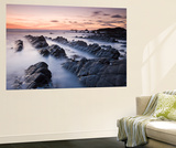 Twilight from the Rocky Shores of Hartland Quay in North Devon, England. Autumn Wall Mural by Adam Burton