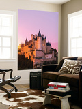 Spain, Castile and Leon, Segovia. the Alcazar and Cathedral at Sunset Wall Mural by Matteo Colombo