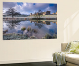 Cold and Frosty Conditions at Alnwick Castle in Northumberland, England. Winter Wall Mural by Adam Burton