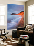 Burning Red Cliffs at Sidmouth on the Jurassic Coast, Devon, England. Winter Wall Mural by Adam Burton