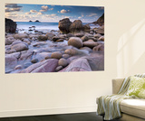Rocky Cove at Porth Nanven Near Land's End, Cornwall, England. Winter (December) Wall Mural by Adam Burton