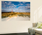 Lighthouse in the Dunes, Amrum Island, Northern Frisia, Schleswig-Holstein, Germany Wall Mural by Sabine Lubenow