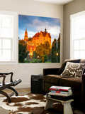 Sigmaringen Castle Illuminated at Sunrise, Swabia, Baden Wurttemberg, Germany, Europe Wall Mural by Doug Pearson