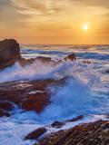 Sunscape Splash at Montaña de Oro State Park Reproduction sur métal par Vincent James