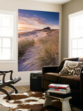 Sunrise over Bamburgh Castle, Northumberland, England. Spring Wall Mural by Adam Burton
