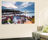 United Kingdom, England, North Yorkshire, Whitby. the Harbour and 199 Steps Wall Mural by Nick Ledger