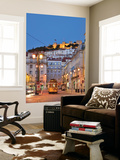 Sao Jorge Castle and Praca Da Figueira at the Historic Centre of Lisbon. Portugal Wall Mural by Mauricio Abreu
