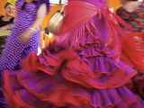 Flamenco Dancers, Feria Del Caballo in Jerez De La Frontera, Andalusia, Spain Metal Print by Katja Kreder