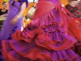 Flamenco Dancers, Feria Del Caballo in Jerez De La Frontera, Andalusia, Spain Metal Print by Katja Kreder